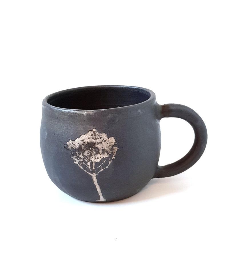 Ceramic Mug Unique Coffee Mug Tree Mug Pottery Pottery image 0