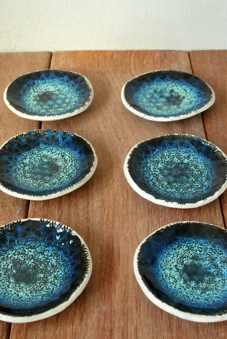 Ring Holder Ceramic Ring Bowl Wedding Favors Secretary gifts Ring Dish Turquoise Bowl Textured Bowl Ceramic Trinket Dish