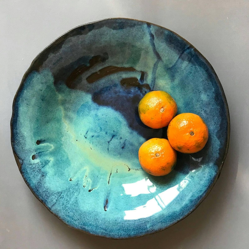 Ceramic Bowl Large Fruit Bowl  Gift for foodie Ceramic image 0