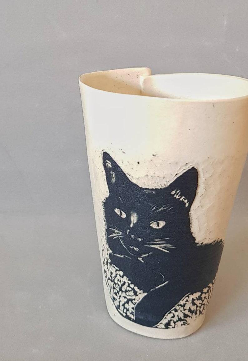 Custom Pet Mug Cat Owner Gift Pottery Mug Unique Coffee image 0