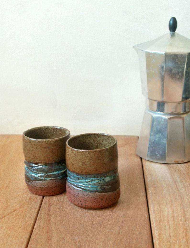Ceramic Cups Espresso Cup Set Unique Coffee Mug Sake Cups image 0