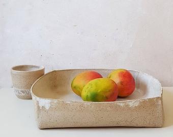 Speckled Ceramic Baking Dish