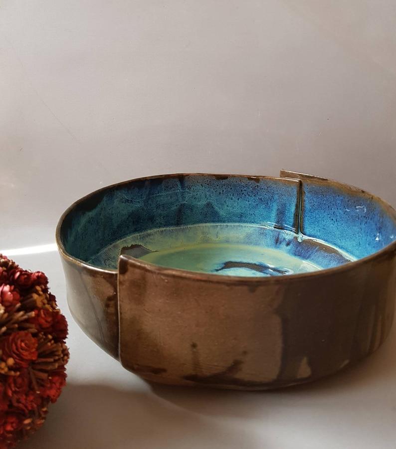 Large Ceramic Bowl Fruit Bowl Large Pottery bowl Ceramic image 0