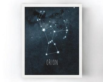 Orion Constellation Art