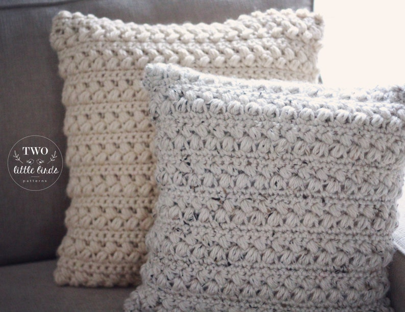 Crochet Chunky Pillow Cover Pattern Crochet Throw Pillow Etsy