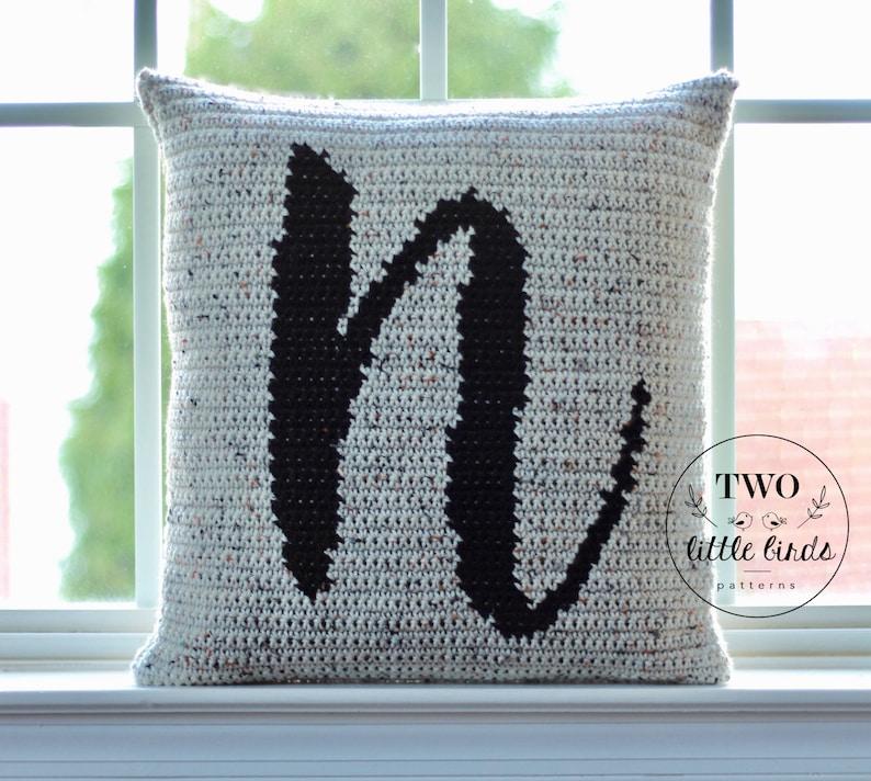 Crochet Pattern Wedding gift Crochet Pillow Pattern image 0