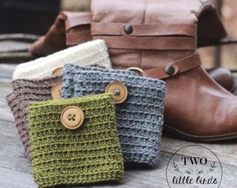 Easy crochet Pattern, crochet pattern, crochet boot cuff pattern, gift for her, boot socks, crochet boot toppers, SULLIVAN BOOT CUFFS