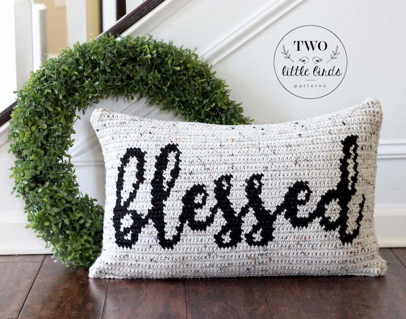 Crochet pillow pattern for crochet throw pillow cover pattern image 0