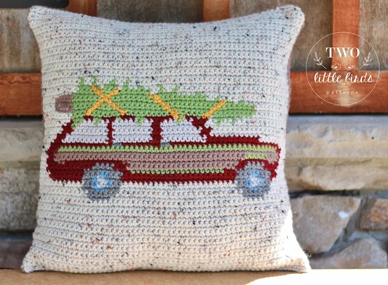 Crochet Christmas Pattern crochet christmas pillow tutorial image 0