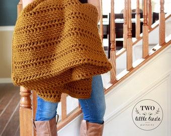 Crochet pattern, crochet blanket pattern, crochet throw pattern, crochet afghan pattern, blanket pattern, crochet throw, CANYON THROW