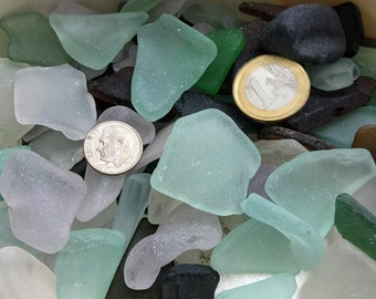 GENUINE SEA GLASS 20mm Buttons 27 Flawless White Clear Real Surf Tumbled Natural Greek Beach Seaglass Sewing Knitting Button Beads  But 234