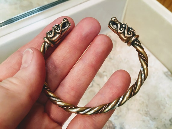Viking Dragon Torc Bracelet Celtic Dragon Bracelet
