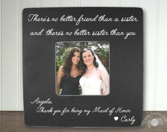 Personalized Maid Of Honor Picture Frame Maid Of Honor Gift Etsy