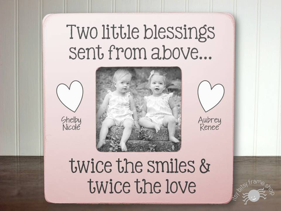 Twins Baby Gift New Baby Gift Twin Frame Boy Twins Girl Twins | Etsy