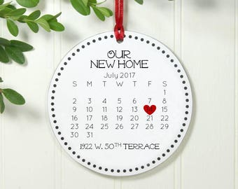 Housewarming Ornament First Christmas in New Home New Home Ornament New Home Gift First Home Ornament Calendar Our New Home