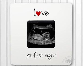 Ultrasound Gift Sonogram gift Gender Reveal New Baby Frame Love at First Sight frame IB3FS