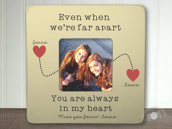Customized Best Friends Frame Long Distance Relationship Gift Etsy