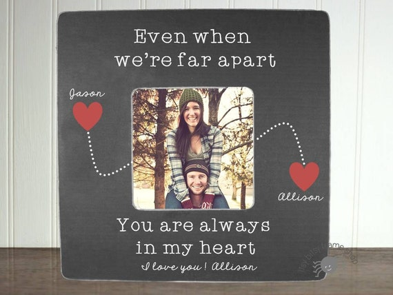 Personalized Girlfriend Picture Frame Long Distance Relationship ...