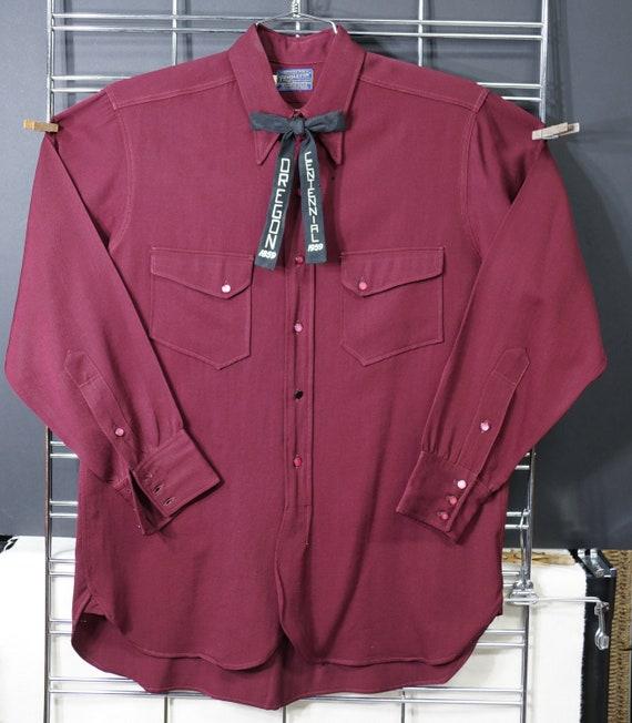 1940s Pendleton Wool Gabardine Shirt