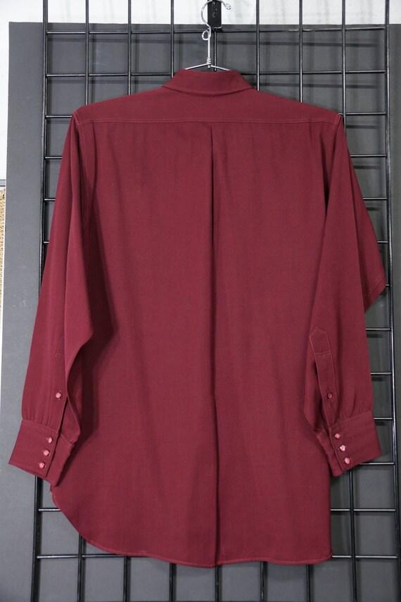 1940s Pendleton Wool Gabardine Shirt - image 4