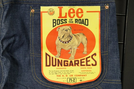 "H D Lee ""Boss of the Road"" - Dead Stock - Utility-"