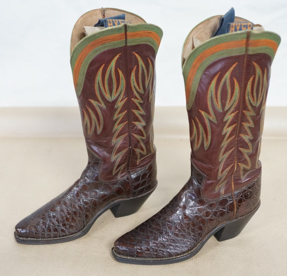 Vintage Women's HYER Cowboy Boots - Alligator - Fa