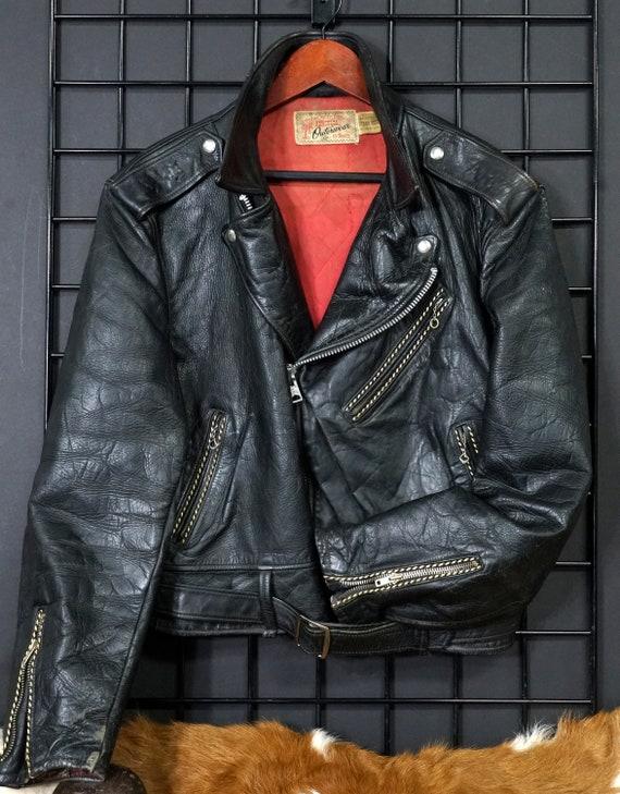 """Vintage """"Hercules"""" Motorcycle Jacket  1940s/50s"""