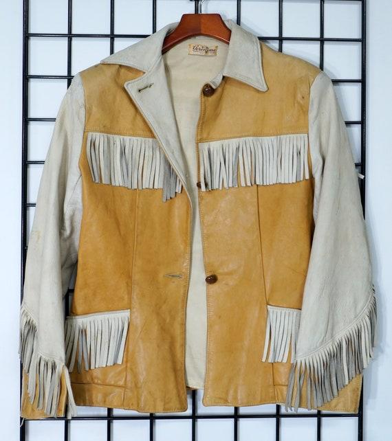 """Vintage """"Geronimo"""" Fringed Ladies Leather Jacket"""
