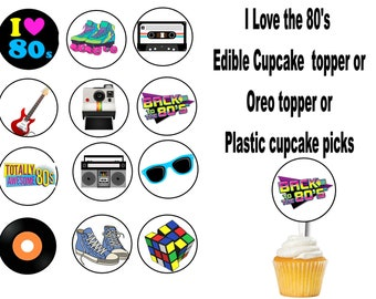 CT2-831 Awesome 80/'s Hip Hop Cupcake Toppers DIY