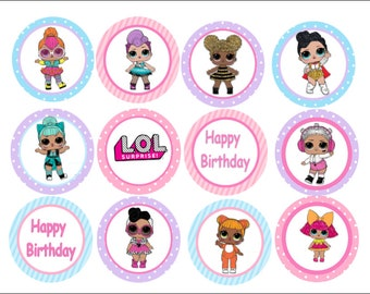 Edible LOL Surprise Dolls Cupcake, Cookie, Oreo Toppers