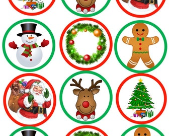Edible Christmas Cookie/Cupcake topper