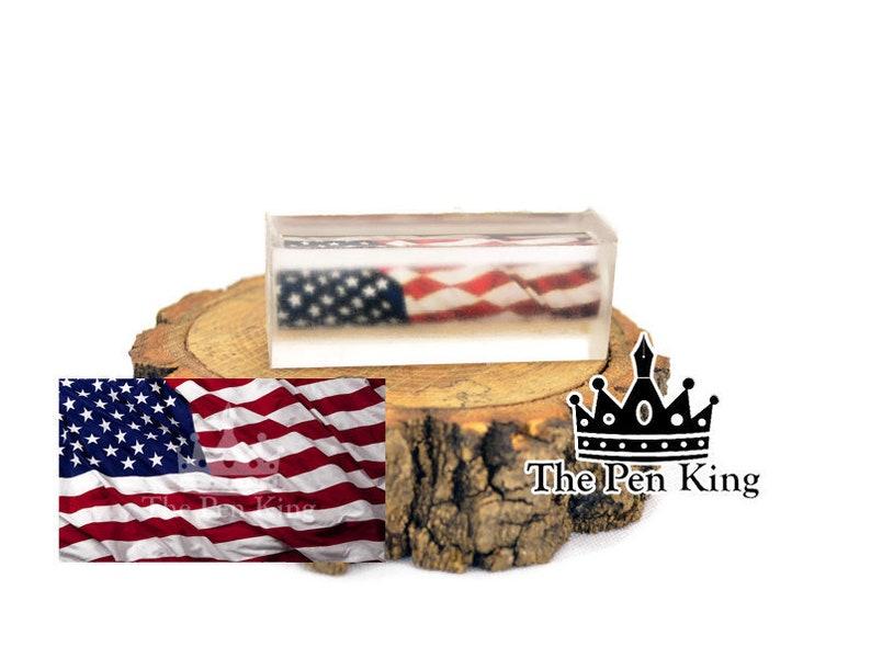 Waving American Flag Pen Blank