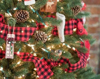 Christmas tree garland etsy