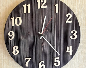 Wall clock , Wooden wall clock, Simple wall clock, Rustic wall clcok.