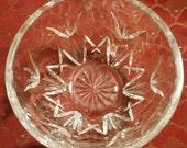 Ireland Seahorse Waterford Mark Irish Crystal Tulip Cut Glass Pattern Design Vanity Trinket Bowl or Open Candy Dish