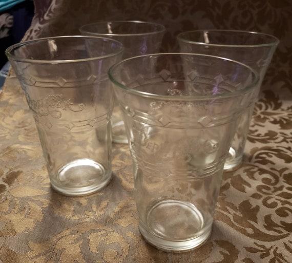 "Set Of 4 Pepsi Cola Foreign Script Tumbler Glasses 5 1//4/"" Tall"