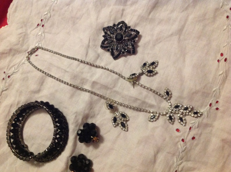Vintage Costume Jewelry Lot  Necklaces Bracelets Rings Earrings Items Shown in Pics Mixed Lot Sold As Is