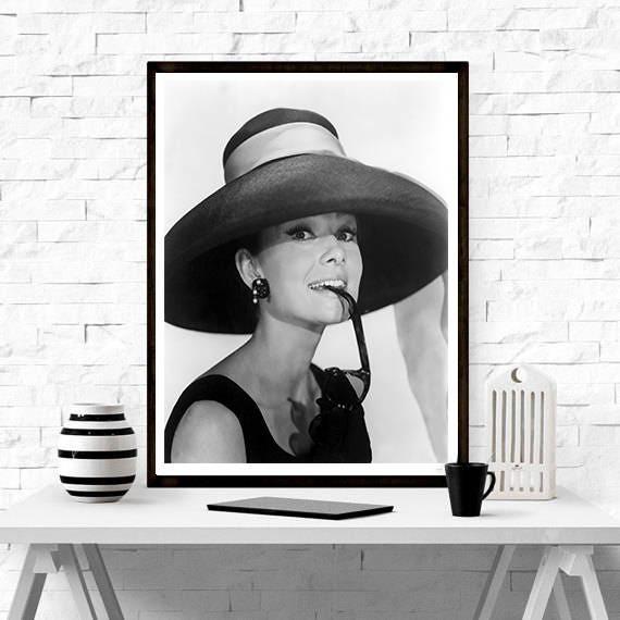Audrey Hepburn Home Decor Print Poster Hollywood's