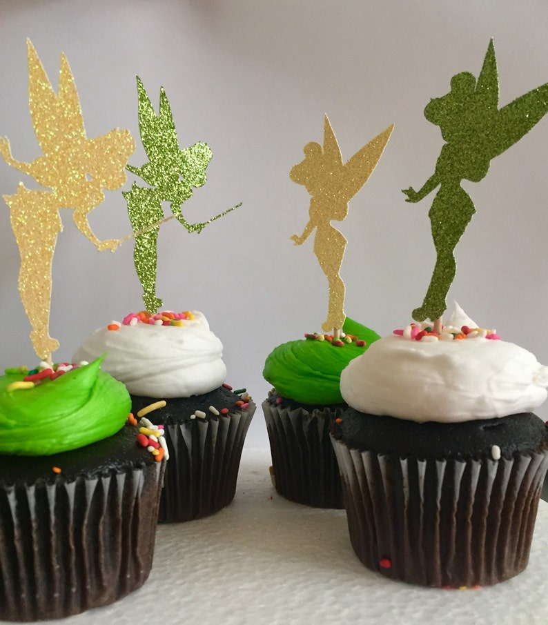 Brillo Tinkerbell Hada Cupcake Toppers 12 Set