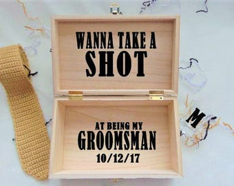 best man proposal best man gift wanna take a shot at being my etsy