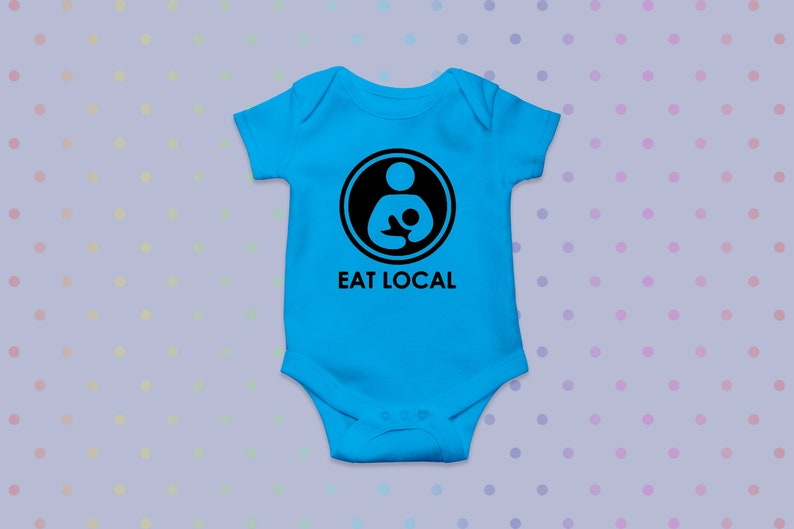 Eat Local Breastfeeding Bodysuit Child/'s Breastfeeding Bodysuit