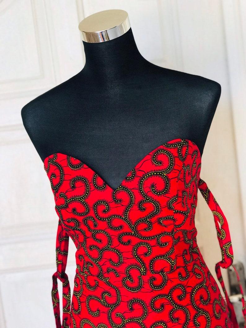 Red Ankara dressAfrican print dressdashiki dress African Print Dress