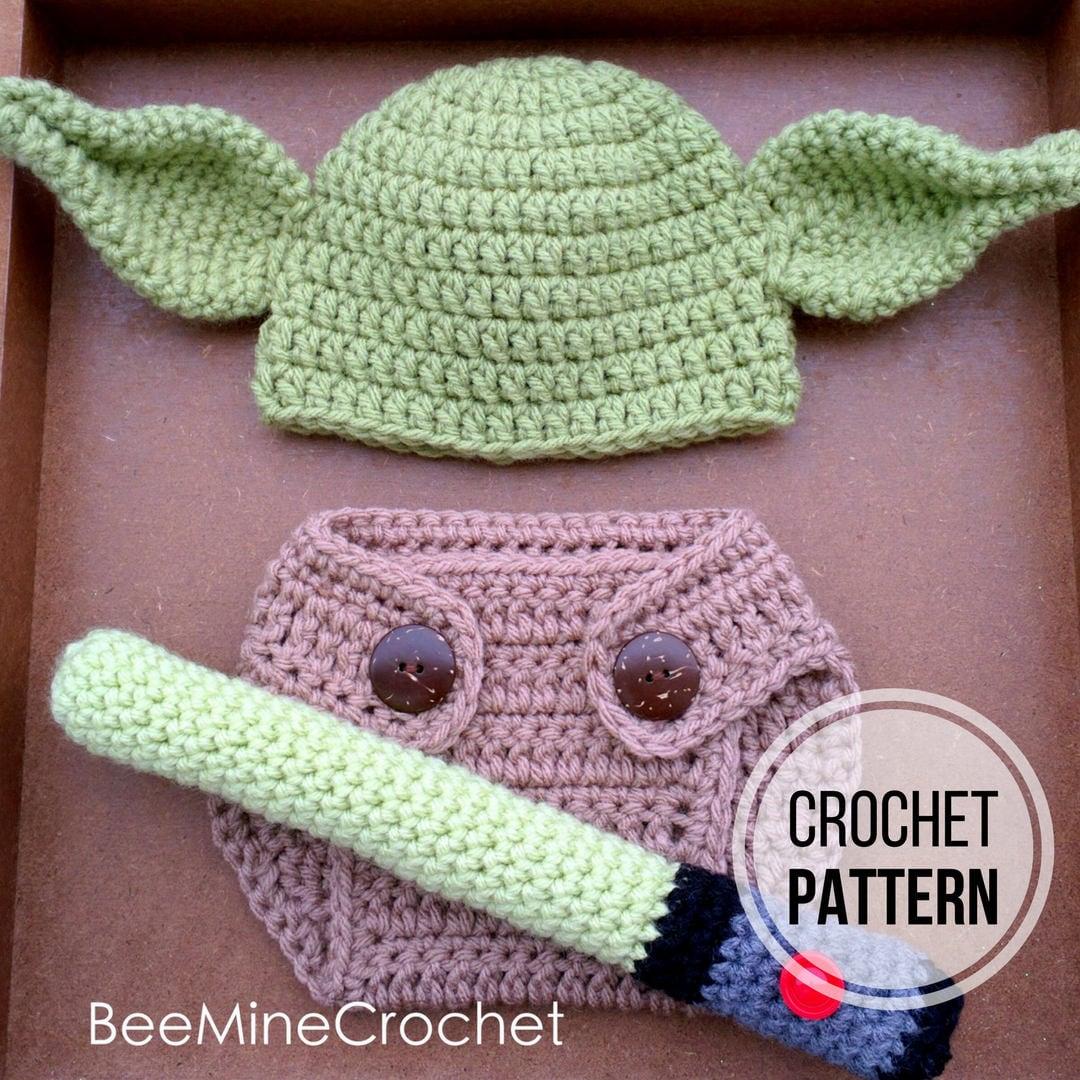 Yoda Inspired Newborn Outfit Crochet Pattern Etsy