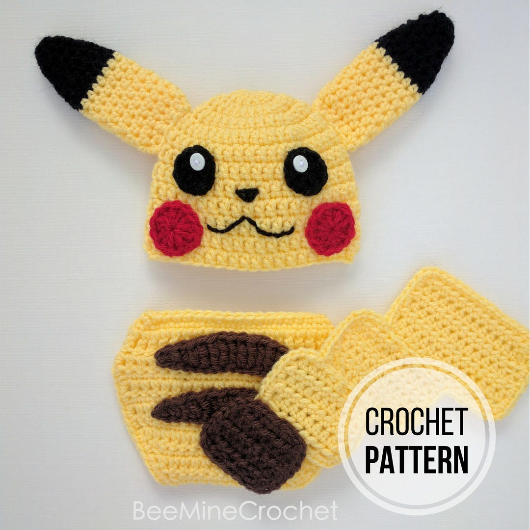 Pikachu Inspired Newborn Outfit PATTERN from BeeMineCrochet on Etsy ...