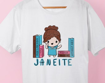 Janeite Graphic Tee | A Jane Austen Shirt for Pride and Prejudice Readers, Bookish Literary Apparel & Sense and Sensibility Book Lovers