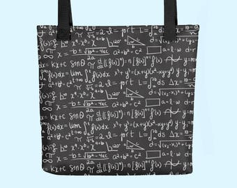 Math Equation Tote Bag | Perfect for Math Geeks, Mathematics Teachers and Stylish People Everywhere