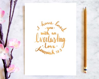 Everlasting Love Scriptural Card | A Spiritually Uplifting Gift For Baptisms and Loveable Friends