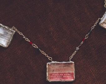 F4 Vintage Poison label necklace