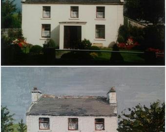 Custom House Oil Painting