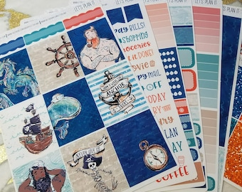 Smooth Sailor | Vertical weekly kit | Planner stickers for Erin Condren/ Happy Planner/ A5/ Personal etc Planners